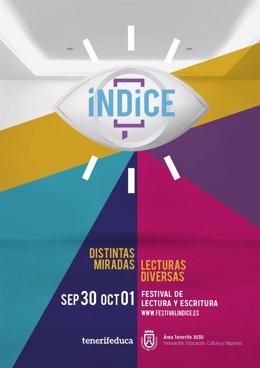 Cartel del Festival de lectura y escritura 'Índice'