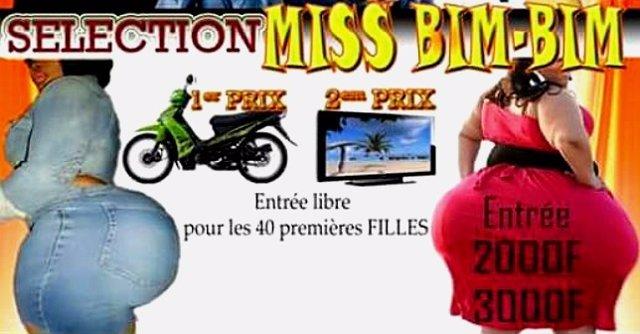 Cartel de concurso de traseros en Burkina Faso
