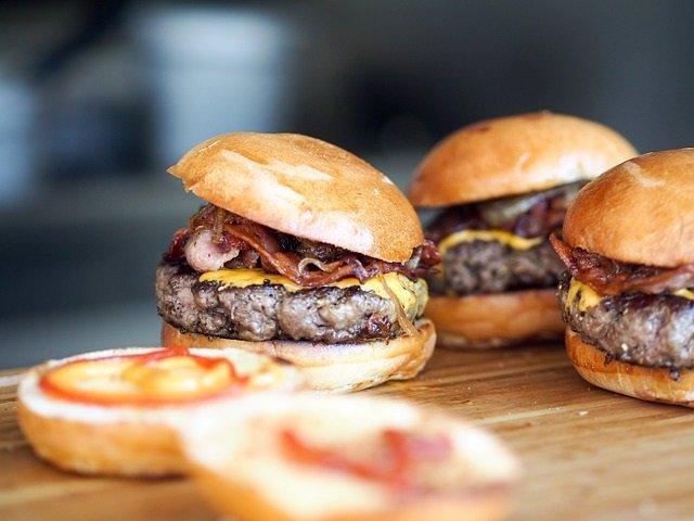 Hamburguesa, carne, comida