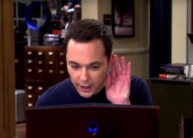 Sheldon Cooper en la promo de la 10ª temporada de The Big Bang Theory