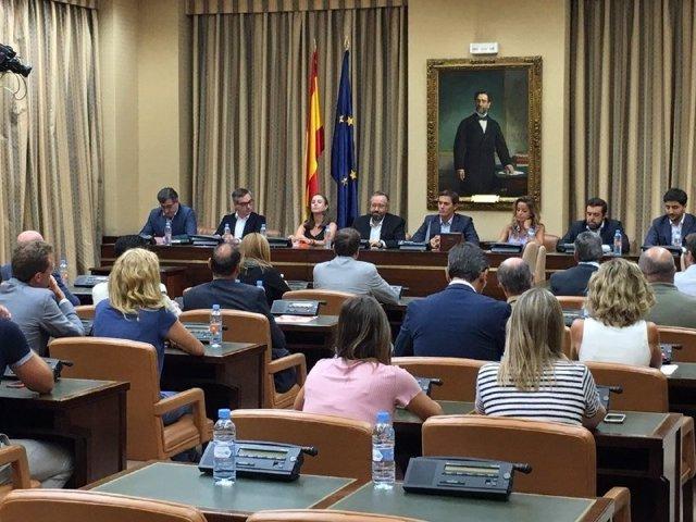 Albert Rivera, en una reunión del grupo parlamentario
