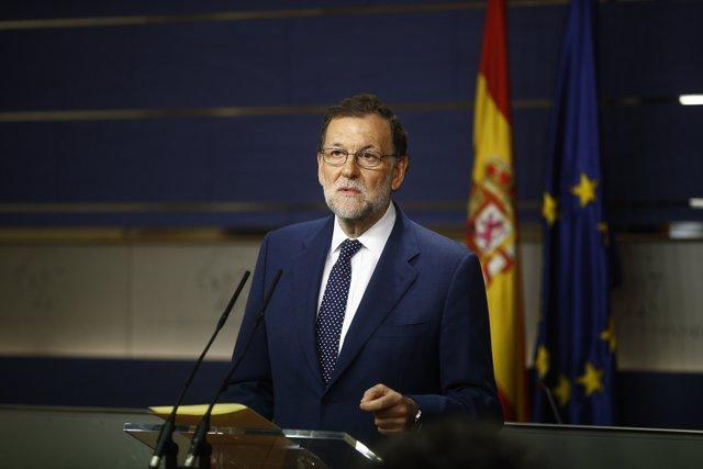 Rueda de prensa de Rajoy tras su reunión con Sánchez