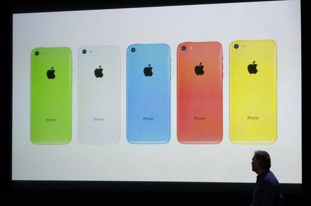 iPhone 5C en cinco colores