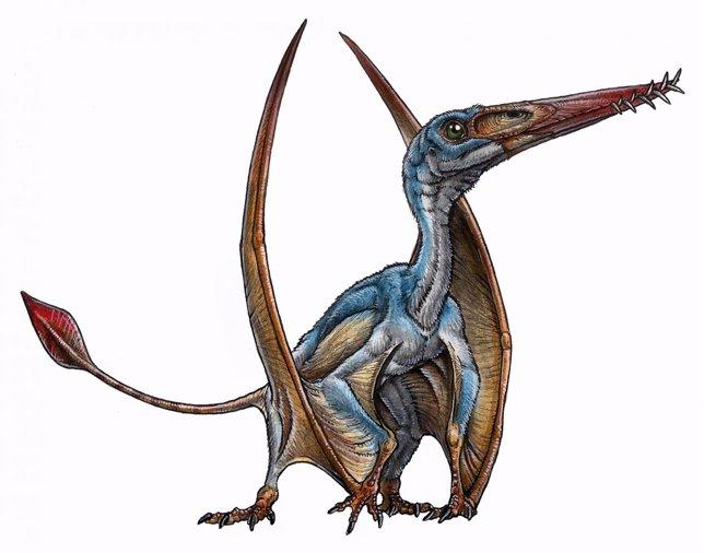Recreación de un ptesosaurio
