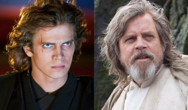 Anakin y Luke Skywalker