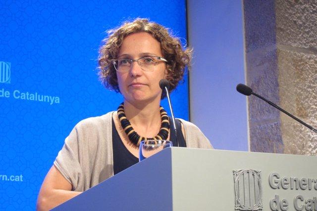 La consellera Meritxell Ruiz, tras el Consell Executiu