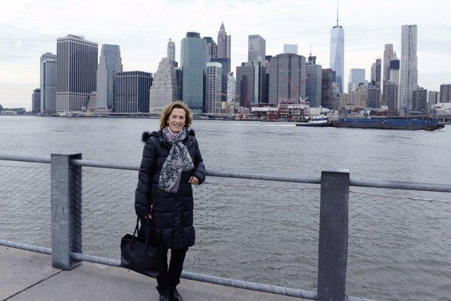 La escritora Julia Navarro en Nueva York