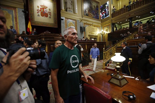 Diego Cañamero en el debate de investidura de Mariano Rajoy