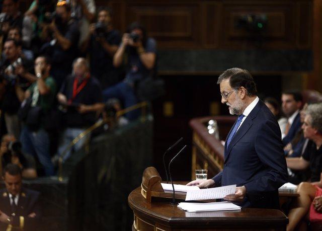 Mariano Rajoy en su discurso de investidura