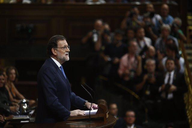 Mariano Rajoy en su debate de investidura