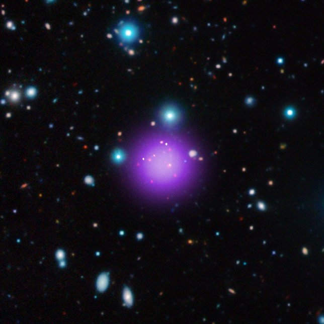 Imagen del cúmulo de galaxias más lejano hasta ahora