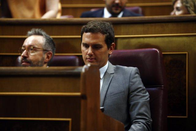 Albert Rivera en el debate de investidura de Mariano Rajoy