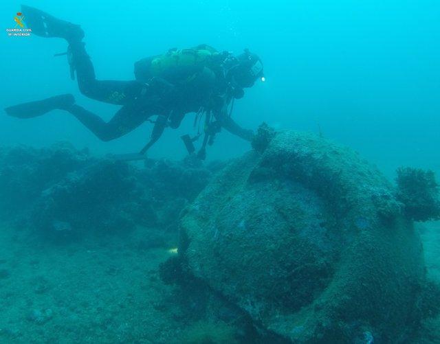 Hallan una mina submarina en Girona que podría ser de la II Guerra Mundia