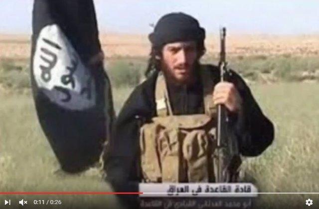 Abú Muhamad al Adnani, portavoz de Estado Islámico, en un mensaje de vídeo