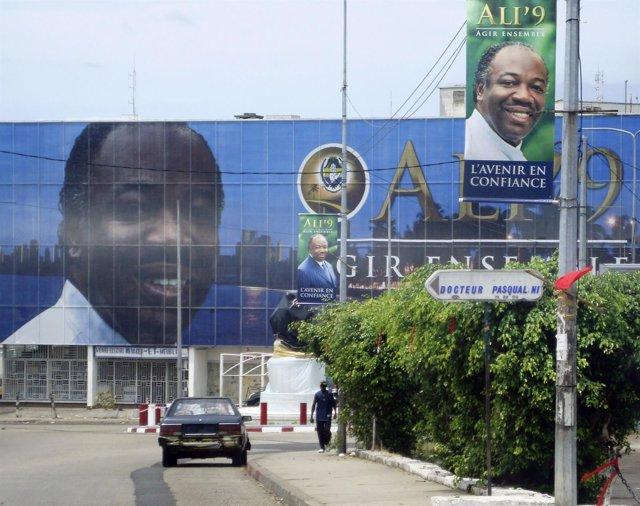 El presidente de Gabón, Alí Ben Bongo Ondimba
