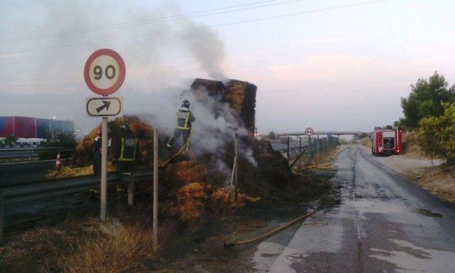 Incendio de un camión