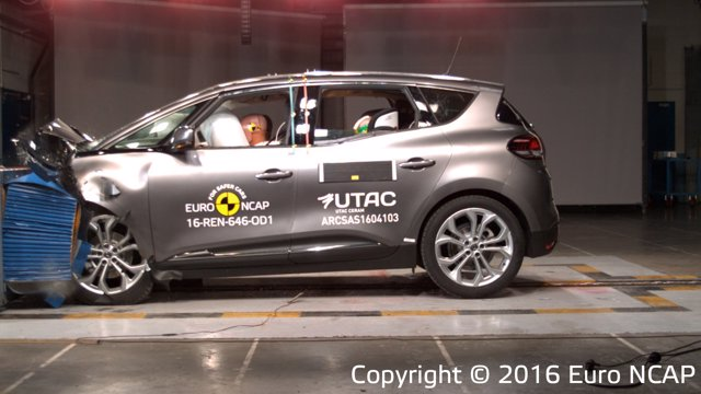 Test de impacto de Euro NCAP sobre el Renault Scenic