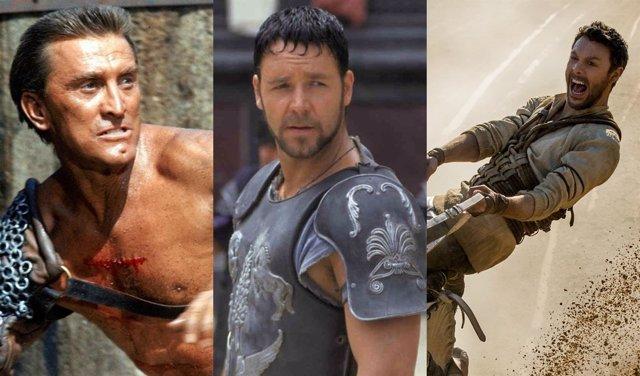 Colalge con Espartaco, Gladiator y Ben-Hur
