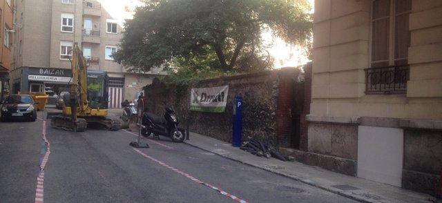 Inicio de los trabajos en la calle Lábaro