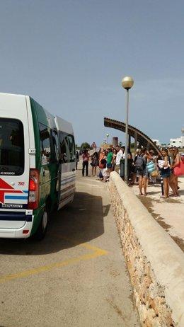 Bus lanzadera entre Sa Ràpita y Es Trenc