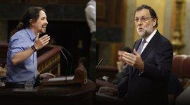 """Rajoy responde con sorna a Iglesias: """"Usted es estupendo, me gustaría ser como usted"""""""