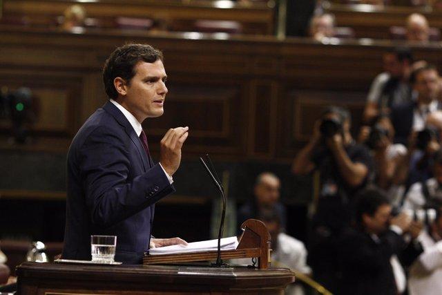 Rivera en el debate de investidura en el Congreso