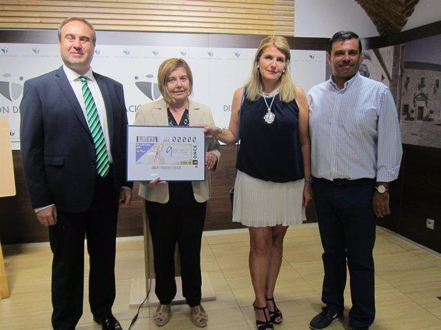 Presentación del cupón de la ONCE dedicado a la Virgen de Guadalupe
