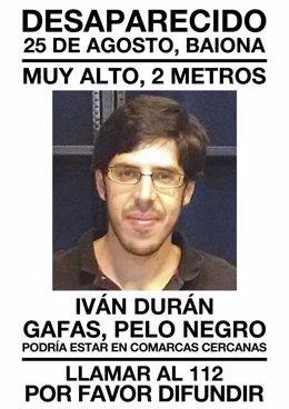 Desaparecido en Baiona Iván Durán