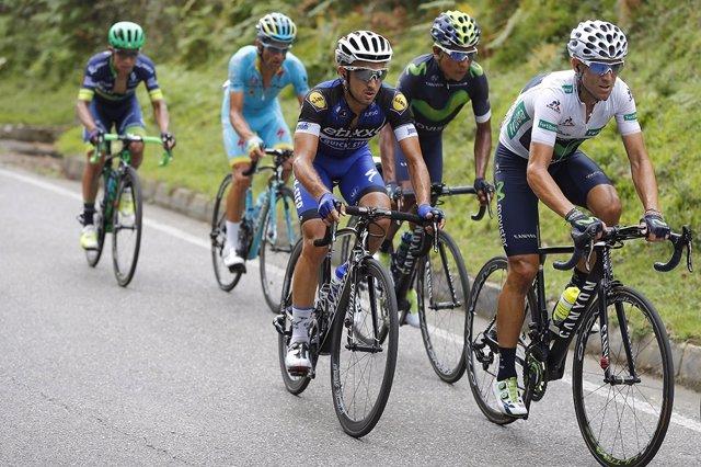 Alejandro Valverde por delante de Nairo Quintana en la Vuelta 2016