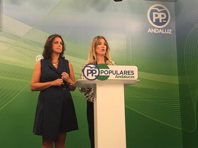 Las dirigentes del PP-A Ana Mestre y Catalina García
