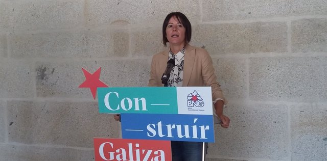 La candidata a la Xunta del BNG, Ana Pontón, en su intervención