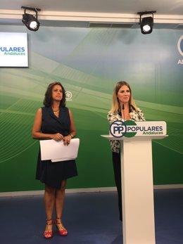 Catalina García y Ana Mestre en rueda de prensa