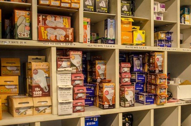 Tiendas electricidad, tienda, material eléctrico, iluminación, consumo