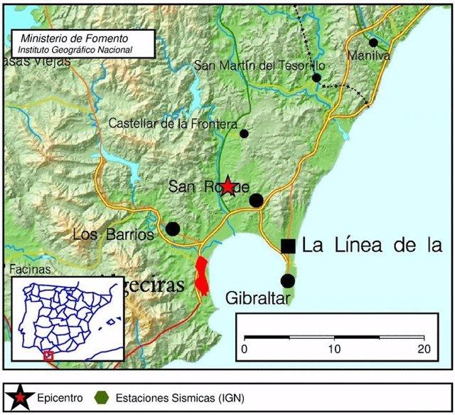 Terremoto en San Roque (Cádiz) y sentido en el Campo de Gibraltar