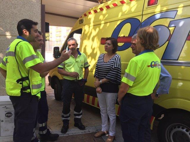 Guillén mantiene un encuentro con personal de emergencias