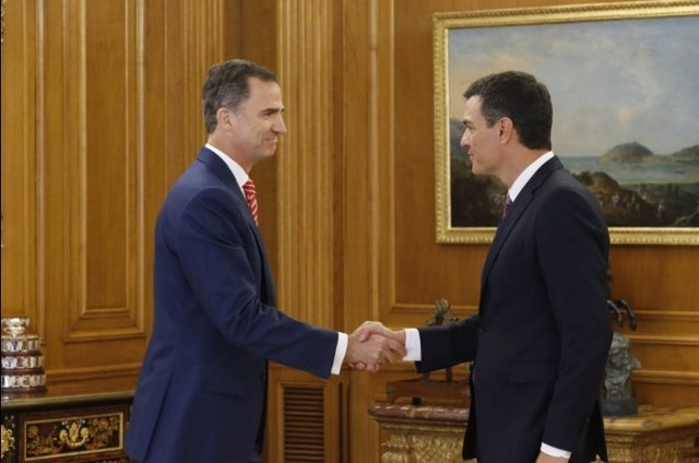 El Rey recibe a Padro Sánchez