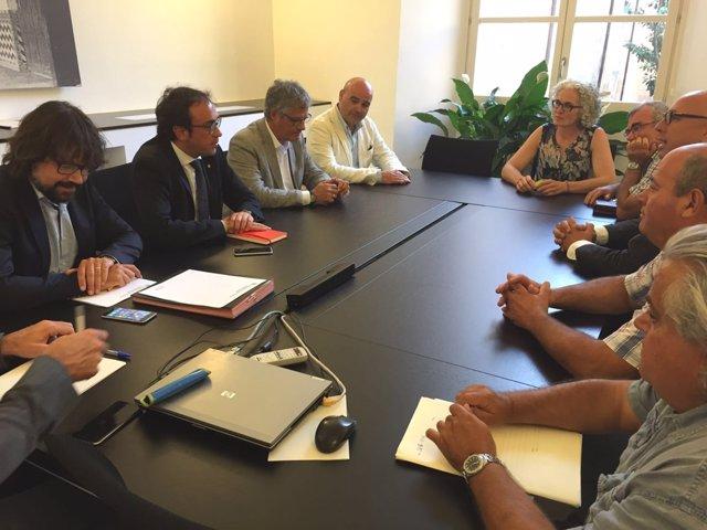 Rull se reúne con los alcaldes de Pontós, Garrigàs y Borrassà sobre la N-II