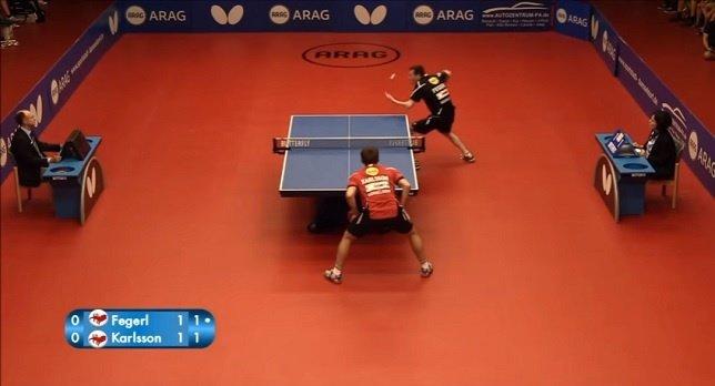 El increíble punto de ping pong