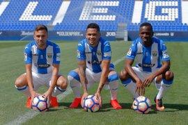 Koné, Luciano y Rober Ibáñez se presentan en sociedad en Butarque