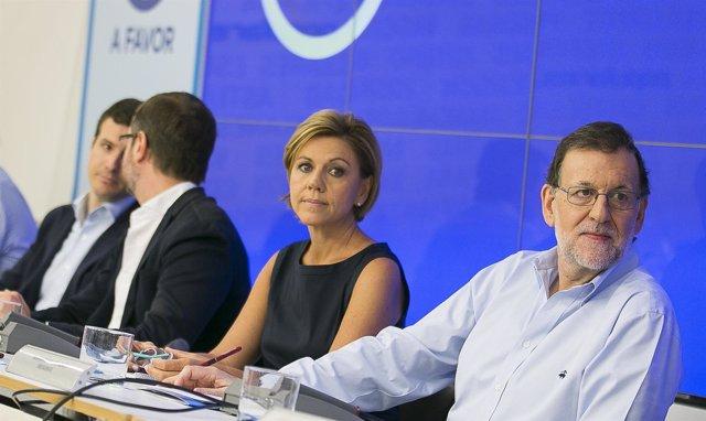 Comité Ejecutivo Nacional del PP tras la investidura fallida de Rajoy