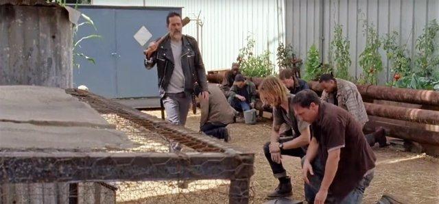 Negan y Los Salvadores en la 7ª temporada de The Walking Dead
