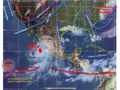 Mueren dos personas a causa del paso del huracán 'Newton' por el noroeste de México