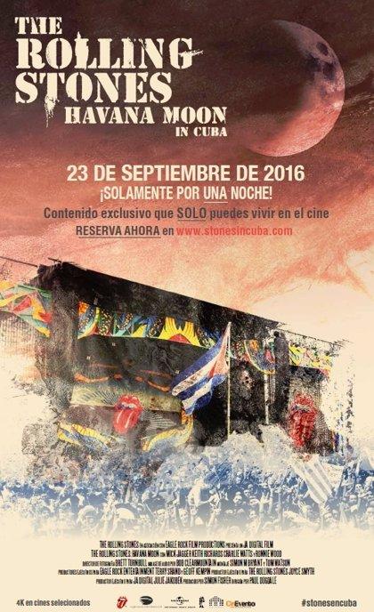 El concierto de los Rolling Stones en Cuba llega a los cines el 23 de septiembre