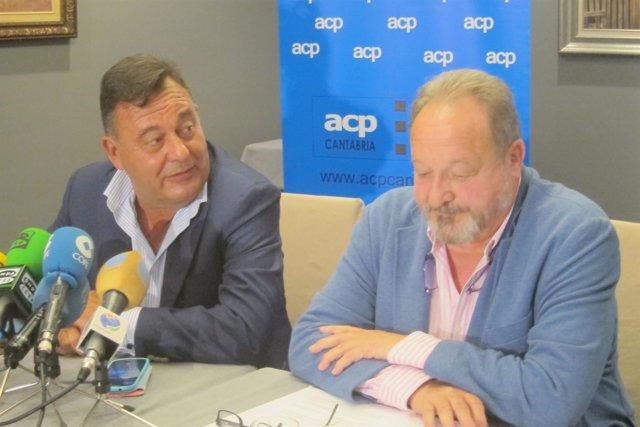 Gervasio Pinta y Justo Cobo, nuevo y anterior presidente de los constructores