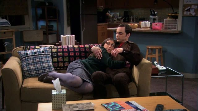 Amy y Sheldon en The Big Bang Theory