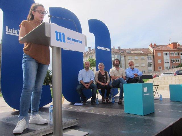 Mitin de En Marea en O Carballiño (Ourense)