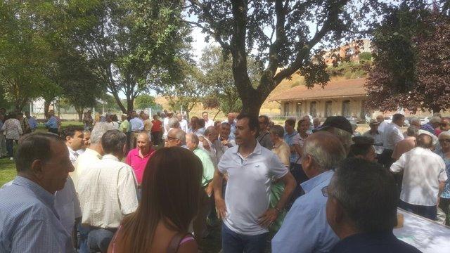 Martínez Maíllo en el acto del PP en Benavente (Zamora)
