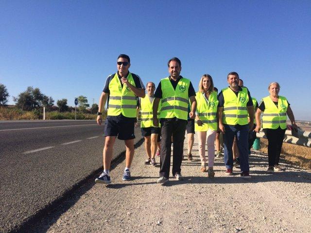 Marcha a pie del PP-Cádiz entre Arcos y Bornos.