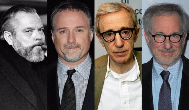 Orson Welles, David Fincher, Woody Allen y Steven Spielberg