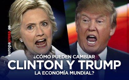 Las políticas económicas que plantean Hillary Clinton y Donald Trump